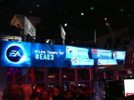 giant screen showing live tweets.